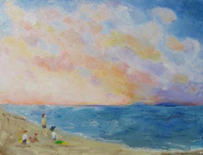 Hammer Beach     -   Oil    18x24